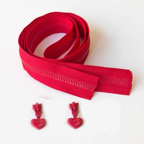 1 M YKK 3# Résine Coil zippers pour la couture Long Zipper Sac zipppers cœur