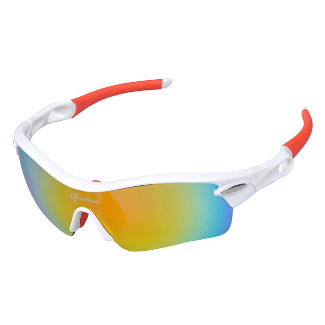 2c76ce4cd4 RockBros Polarized Bicycle Glasses Sports Glasses Sunglasses Goggles White  Red