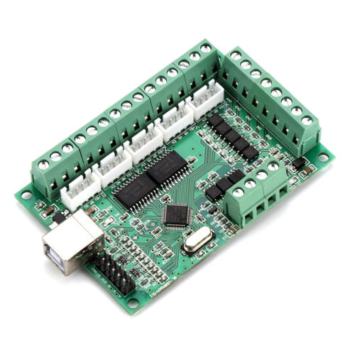 CNC USB MACH3 100Khz Breakout Board 5 Axis Interface Driver Motion Controller