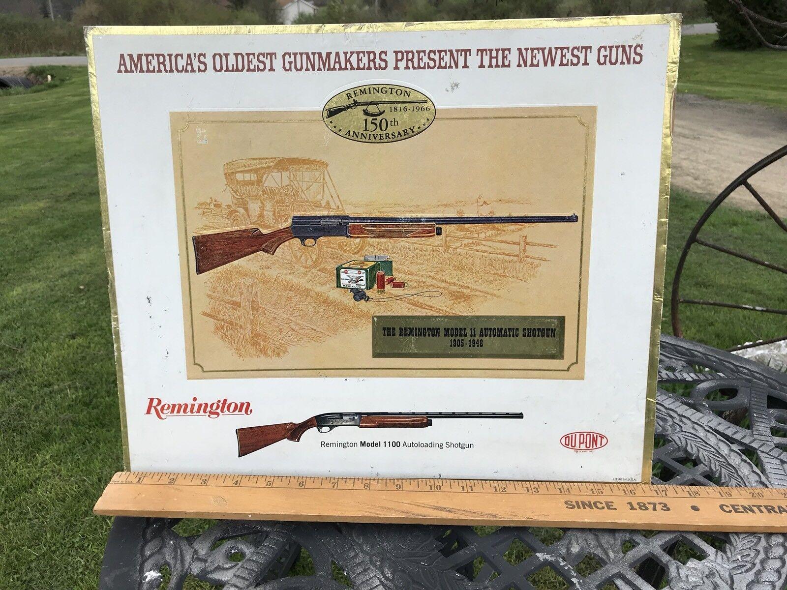1966 Remington cartón Mostrador Publicidad, Modelo 11 Auto escopeta