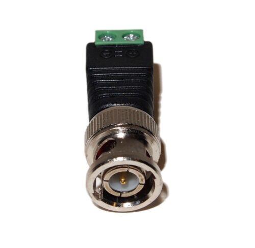 20 pcs Coax Cat5//Cat6 To Camera CCTV BNC Video Balun Coaxial Connector Screw