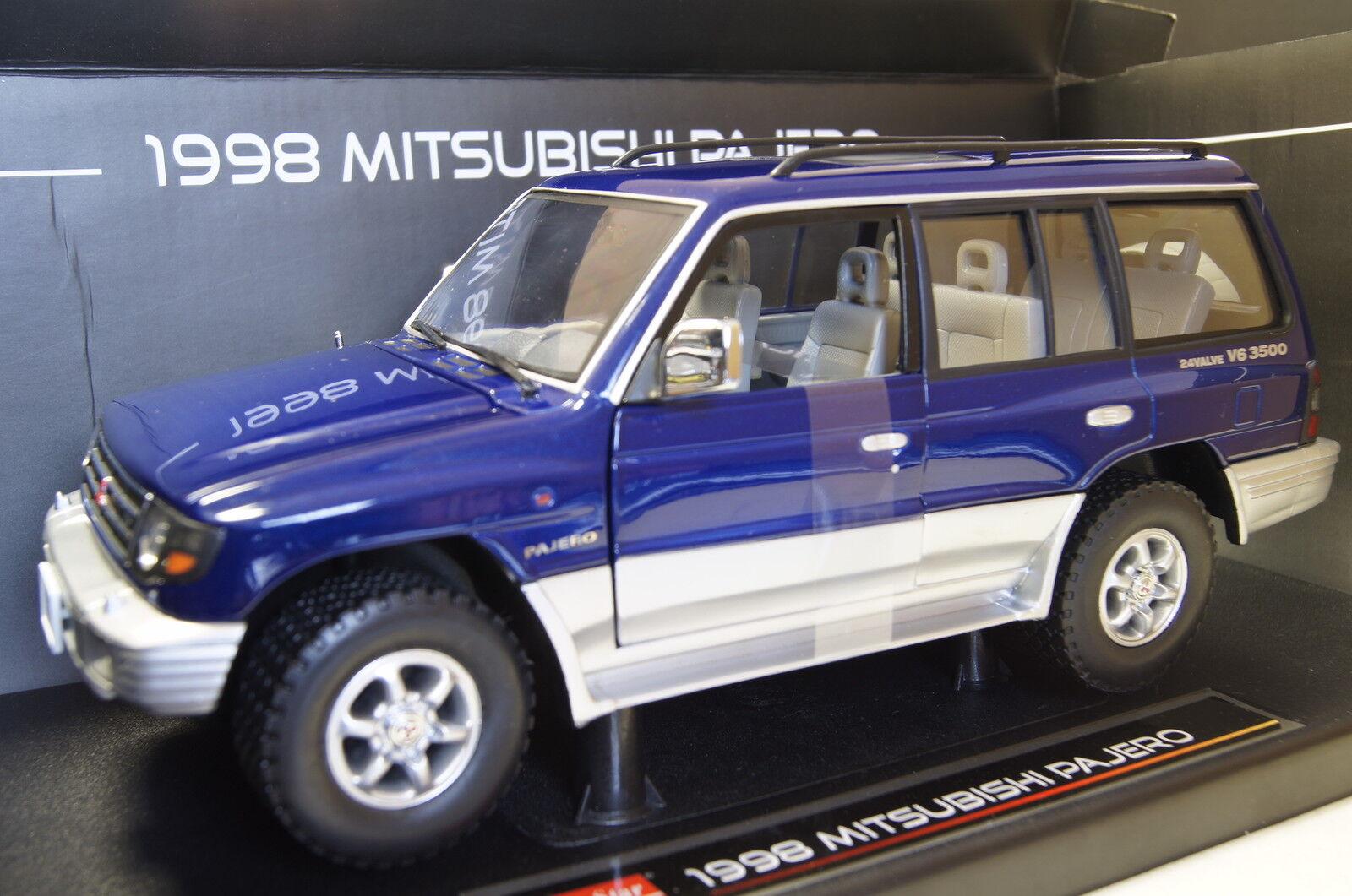 MITSUBISHI PAJERO LUNGO 3,5 v6 1998 BLU 1 18 SUN STAR NUOVO & OVP