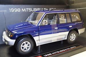 Mitsubishi-pajero-Lang-3-5-v6-1998-bleu-1-18-sun-star-NOUVEAU-amp-OVP