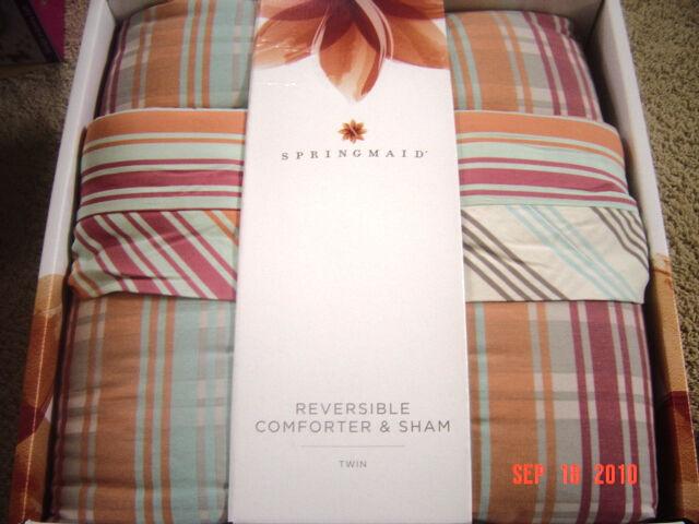 Springmaid Hollman Comforter & Sham Set Twin Size NEW