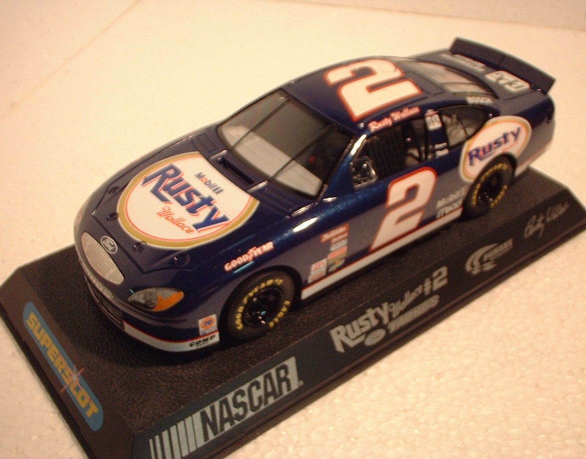 Qq H 2374 SUPERSLOT FORD TAURUS RUSTY WALLACE NASCAR - Scalextric UK