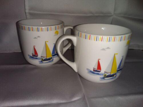 """2 Nouveau RNLI canots tasses//mugs /""""Voiliers en mer/"""" Scène-Réduction pour multiples."""