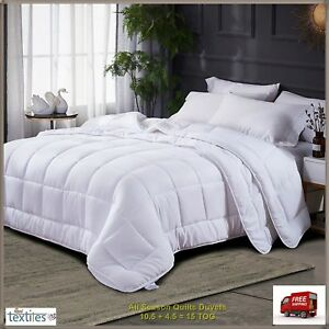NEW Hollowfibre Duvet Single Double King Super 10.5 13.5 15 tog Quilt Bedding