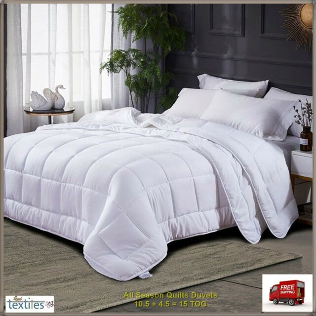 Habitat Ultrawashable All Seasons 4 5 9 Tog Duvet Bed Bedding