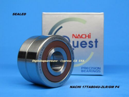 NACHI 17TAB04U-2LR//GM P4-Abec7 SEALED Ball Screw Bearings. Matched Set of 2