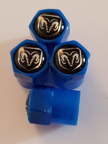 Tapones de polvo de la válvula Dodge Azul Plástico Antiadherente 7 Colores Todos Los Modelos