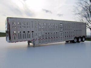 dcp 1/64 scale wilson livestock trailer triple axle silver ... cube hopper mk2 wiring diagram wilson hopper bottom wiring diagrams #15