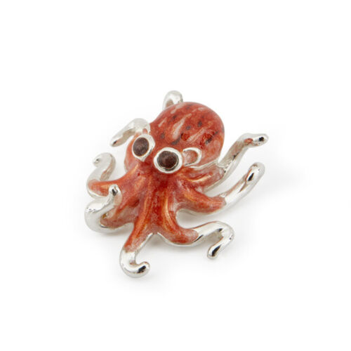 ST501 Octopus Miniature Saturno Sterling Silver and Enamel Aquatic