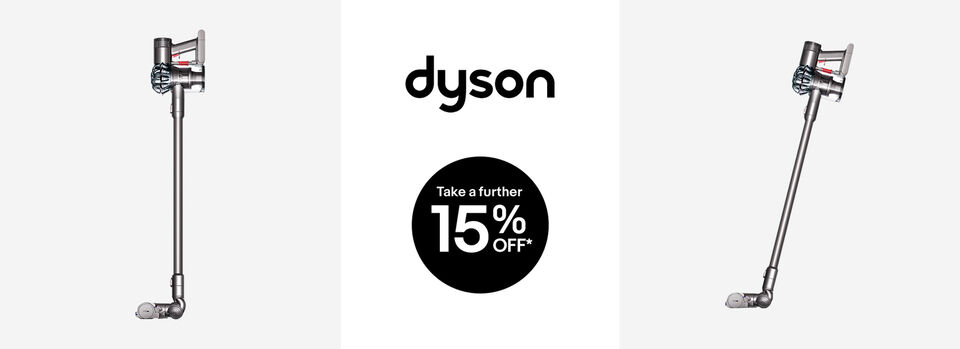 Further 15% off* Dyson V6 Animal Extra