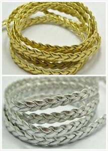 3/30m Leather Braid Rope Hemp Jewelry Cord For Necklace Bracelet 5mm Making