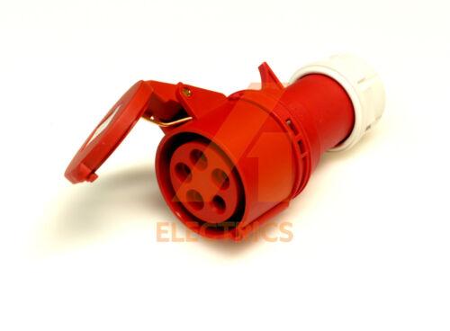 16 amp attelage Trailing Socket 5 Pins 380-415V 3 phase IP44 fast fit 16A 3P N+E