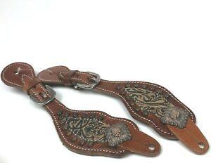 Ladies/'  Copper Belt Buckle Bling Spur straps Tough 1