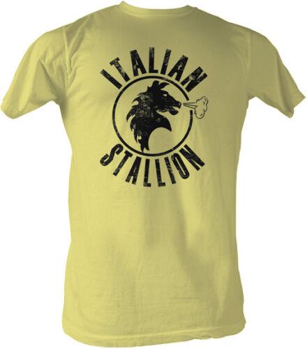 Rocky Black Writing Italian Stallion Adult T Shirt Classic Movie