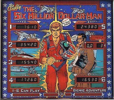 SIX MILLION DOLLAR MAN Complete LED Lighting Kit SUPER BRIGHT PINBALL LED KIT