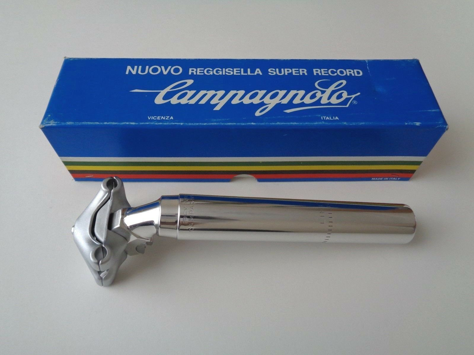 NOS Vintage 1980s Campagnolo Super Record 'last generation' seatpost 26mm