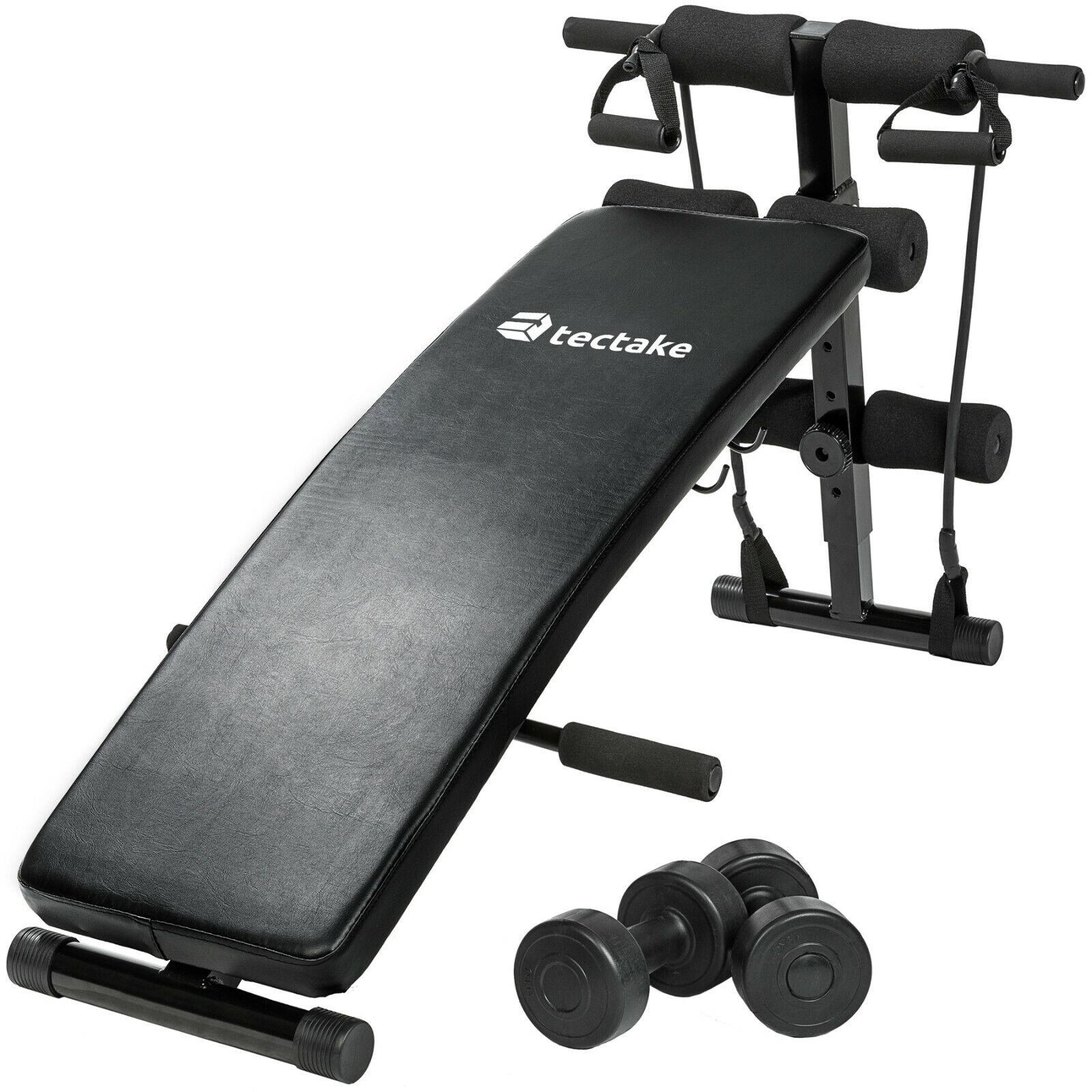 Banco de Musculación Abdominales Fitness Deporte Gimnasio Cuerdas Negro Nuevo