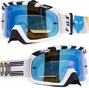 c13bbece08 La imagen se está cargando Fox-Airspace-Motocross-MX-Gafas-Rhor-Blanco-con-