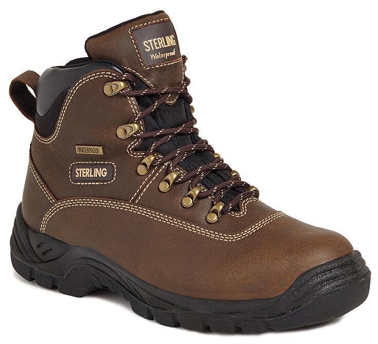 Sterling SS813SM braun Waterproof Safety Hiker Stiefel Steel Steel Steel Toe Cap & Midsole 67d82e