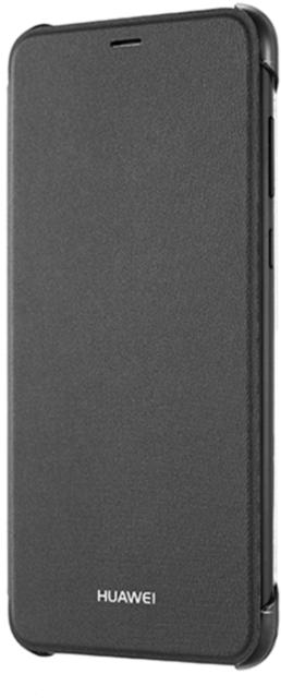 Huawei P Smart Flip Cover Schwarz Schutzhülle Kunststoff Handytasche NEU OVP