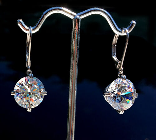 12 ct Drop Earrings Bling Bling Top Russian CZ Imitation Moissanite Simulant