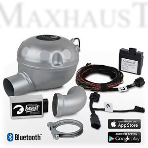 maxhaust soundbooster set mit app-steuerung nissan qashqai j11 ab