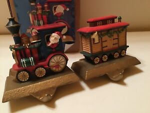The Christmas Train Cast.Details About Train Christmas Stocking Holders Hangers Cast Iron Bases Santa Train Decoration