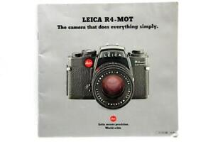 Excellent Leica R4-Mot The Camera That Does Everything Simply Booklet #P-1007