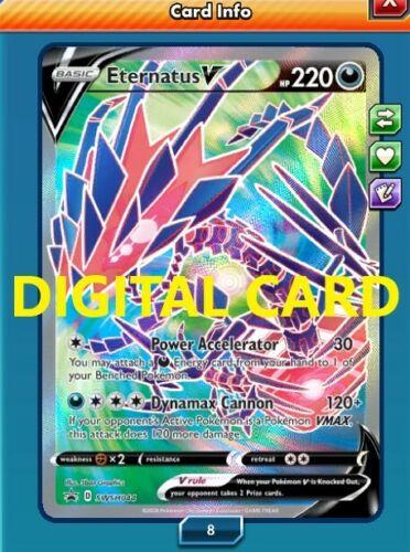 Eternatus V Full Art swsh 044 DIGITAL CARD Pokémon TCG Online FAST DELIVERY