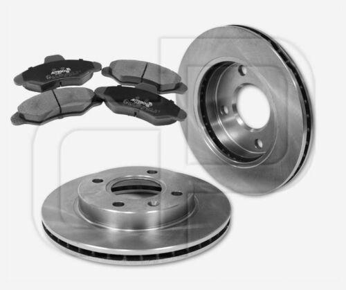 2 Bremsscheiben 4 Bremsbeläge FORD Escort VII ab Bj 95 vorne 239 mm belüftet