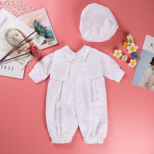 Baptism Baby Boy Outfit Handmade Christening Newborn Toddler Ivory