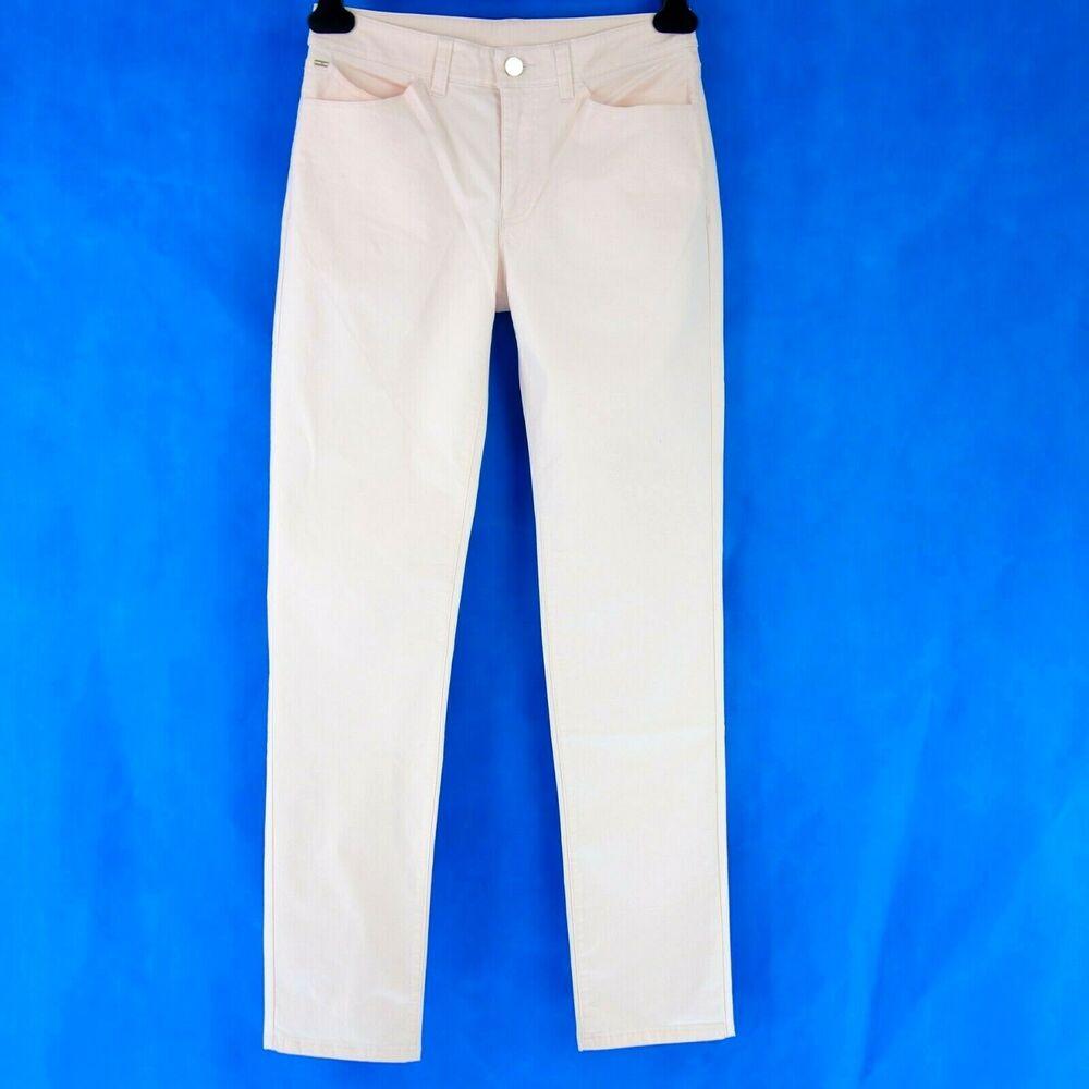 Armani Jeans Aj Jeans Femmes Pantalon Dahlia T W27 Slim Fit Rose Denim Np 149 Neuf