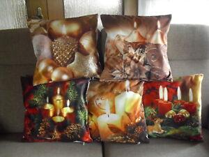 Kissenh lle kissenbezug dekokissen weihnachten kerzen - Dekokissen weihnachten ...