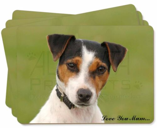 AD-JR57lymP Jack Russell Terrier Dog /'Love You Mum/' Picture Placemats in Gift B