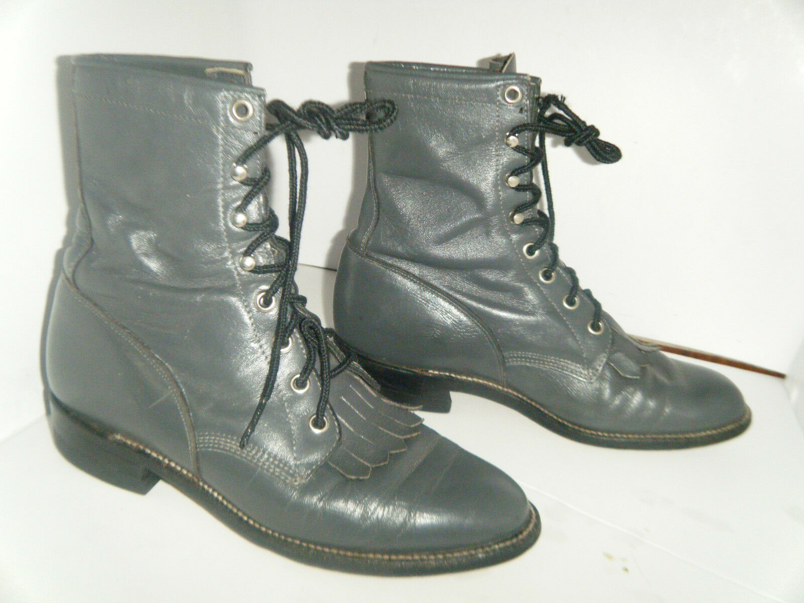 JUSTIN Roper Boots Size Lace Up 5.5 C Women's