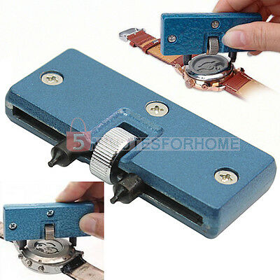 Adjustable Watch Back Case Cover Opener Remover Wrench Repair Kit Tool 5m9e
