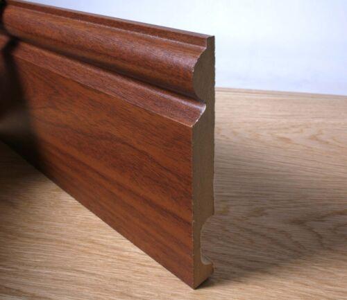 Walnut Finished Torus Skirting Boards MDF 2.4mtr x 130mm