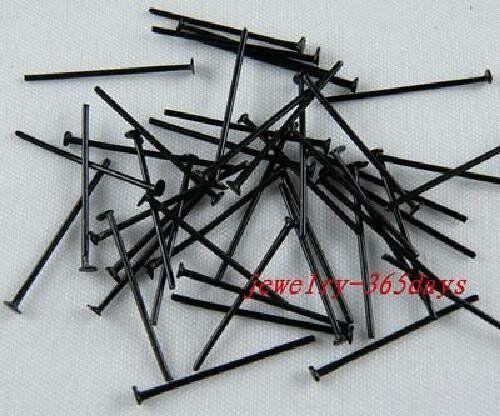 500pcs Real Black Head Pins /& Needles 22mm H270