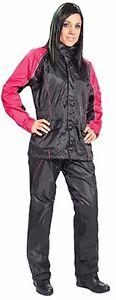 JOE ROCKET RS2 WOMENS MOTORCYCLE RAIN SUIT LARGE BLACK PINK HEAT PROTECTION