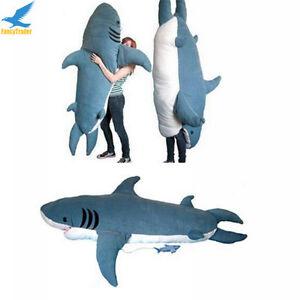 Giant Shark Sleeping Bag fancytrader huge giant shark sleeping bag beanbag sofa bed plush