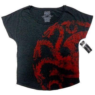 Game Of Thrones TARGARYEN HOUSE SIGIL Dolman Girls Women's T-Shirt NWT Licensed