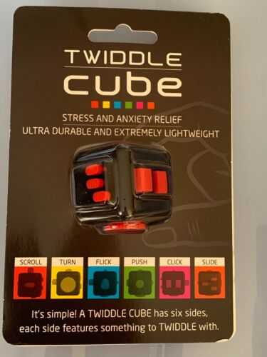 Twiddle Cube Black Fidget Cube For Anxiety Stress Relief Toy Kids