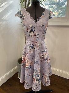 Review-Romance-Purple-Floral-Lace-Dress-Size-6-EUC-Races-Wedding-Party