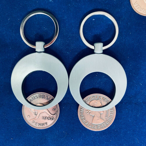 50th Birthday Anniversary Gift Present 1970 Australian Penny Popper Keyring