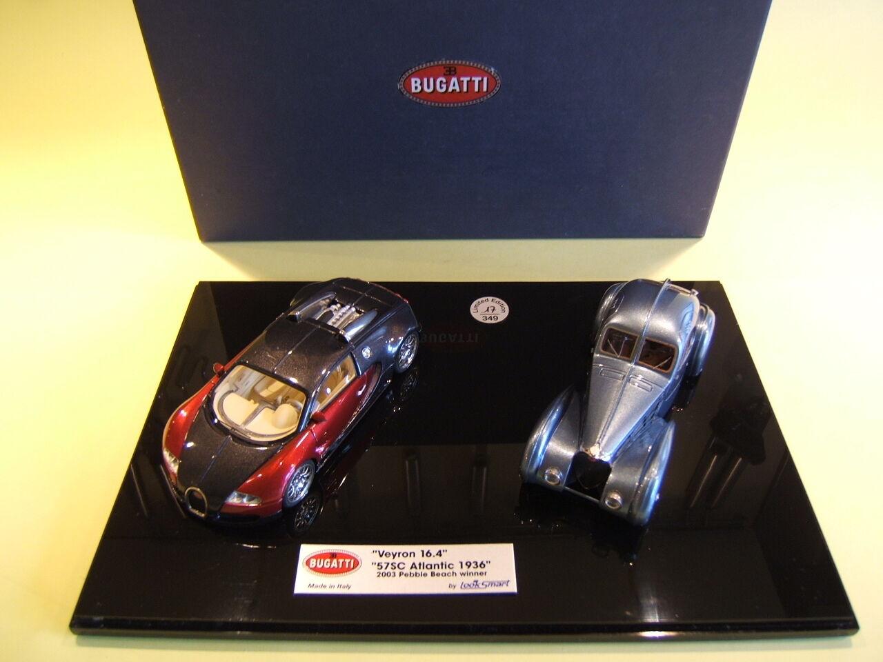 LookSmart Bugatti T.57SC Atlantic '36 & Bugatti Veyron 16.4 Box Set  1 43