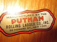 Rolling library ladders with track and hardware Putnam/Cotterman