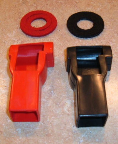 Pack of 2 Battery Terminal Covers Protectors Red Black Hot Rod Boat Marine Boots